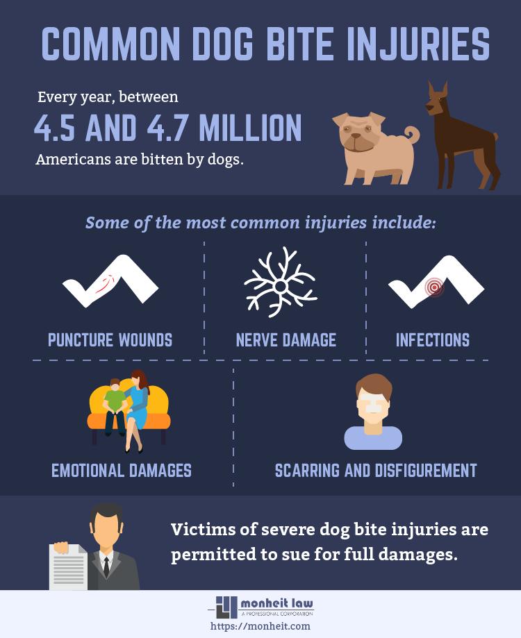 common dog bite injuries