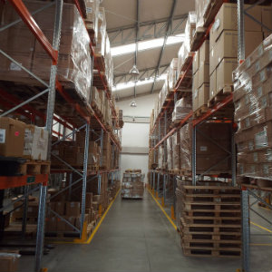 boxes in warehouse storage